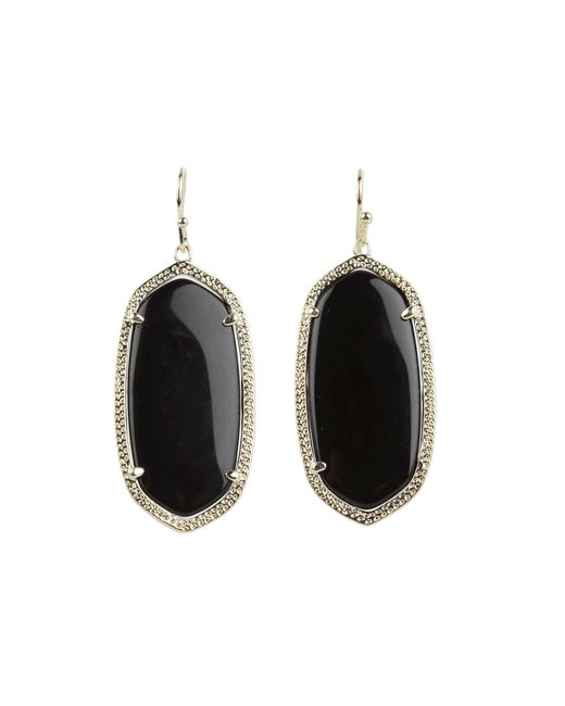 Kendra Scott | Black Elle Earring | Lyst