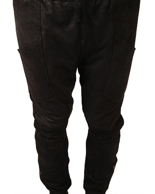 Giorgio Brato Suede Sweatpant In Black For Men