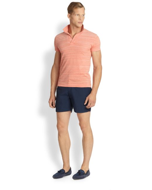 Orlebar Brown   Blue Solid Swim Shorts for Men   Lyst