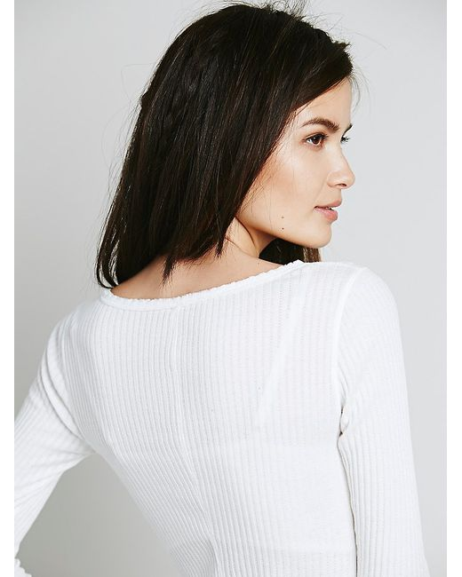 Free People | White Livin In A Dream Thermal | Lyst