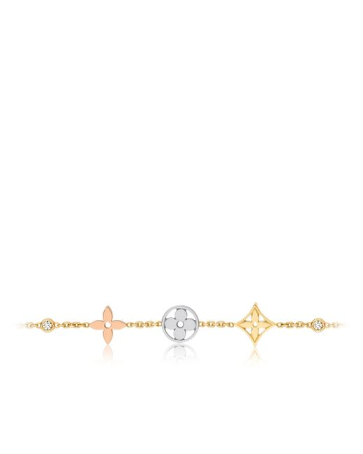 Louis Vuitton | White Idylle Blossom Bracelet, 3 Golds And Diamonds | Lyst