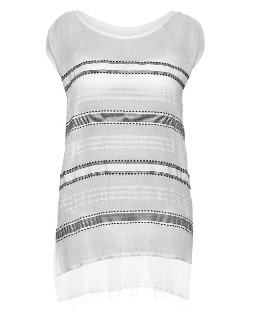 lemlem | Gray Addis Multi-stripe Gauze Cover-up | Lyst