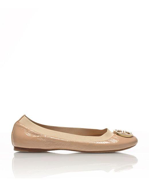 Tory Burch | Pink Caroline Patent Ballet Flats | Lyst