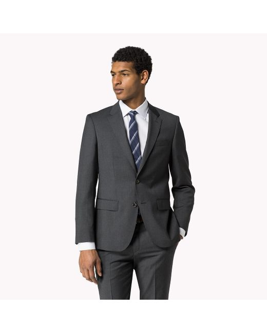 Tommy Hilfiger | Gray Butch Wool Fitted Blazer for Men | Lyst