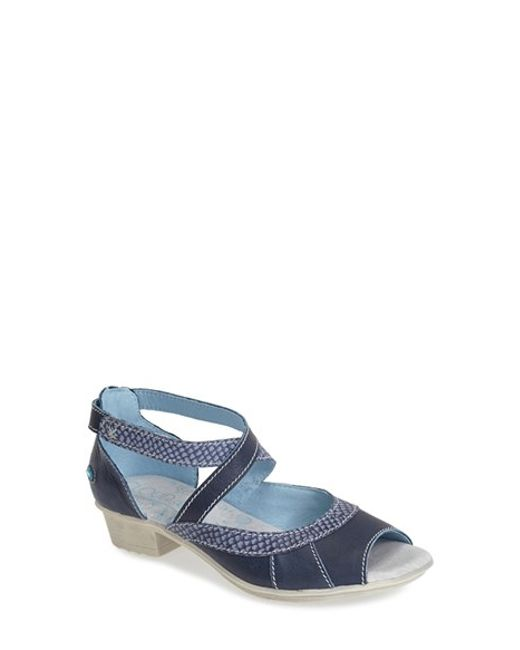 Cloud | Blue 'Pax' Open Toe Leather Sandal | Lyst