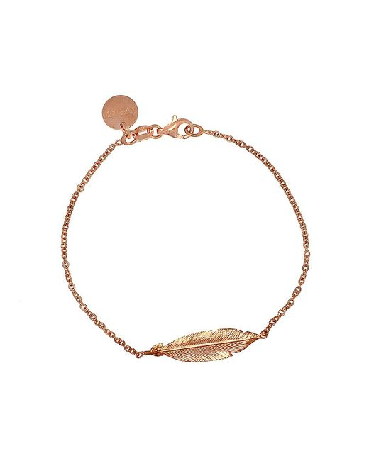 Azendi | Metallic Rose Gold Vermeil Feather Bracelet | Lyst