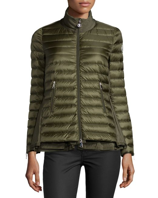 Moncler Grenouille Quilted Down Jacket In Green OLIVE Lyst