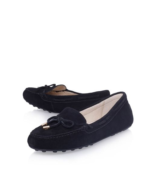 Michael Kors | Black Daisy Moc Flat Slip On Loafers | Lyst