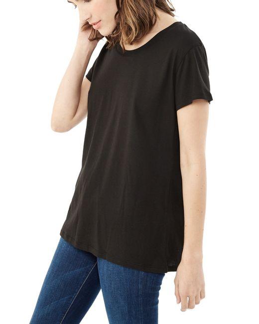 Alternative Apparel   Black Essential Cotton Modal T-shirt   Lyst