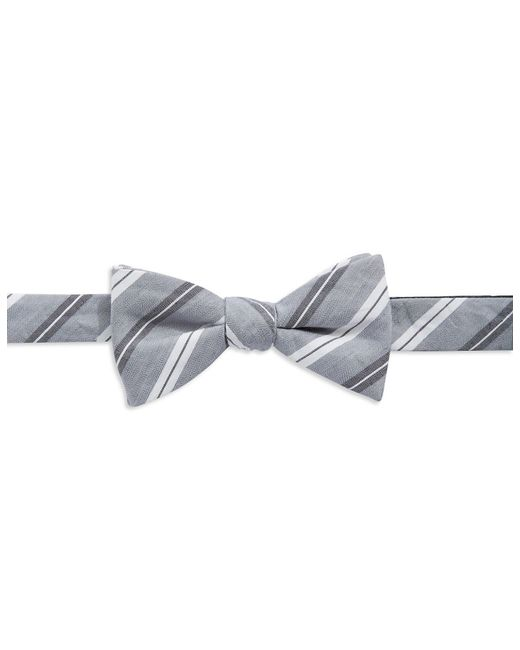 Vince Camuto | Gray Silk And Linen Bow Tie for Men | Lyst