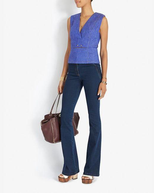 Veronica Beard | Blue High Waist Flare Jean | Lyst