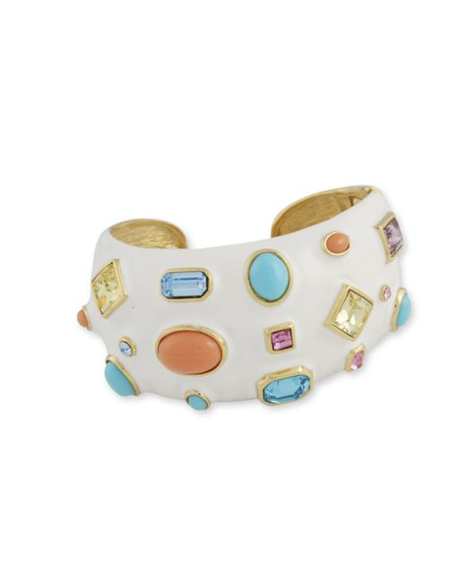 Kenneth Jay Lane | Multicolor Multi-color Stones Cuff | Lyst