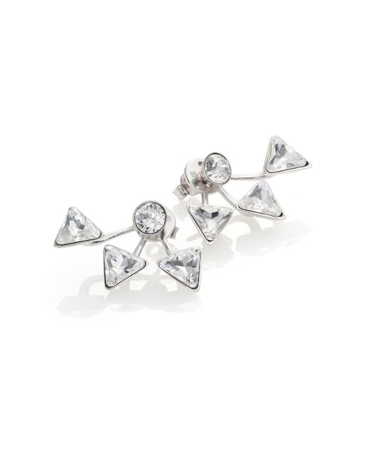 Ca&Lou | Metallic Suki Crystal Earrings | Lyst