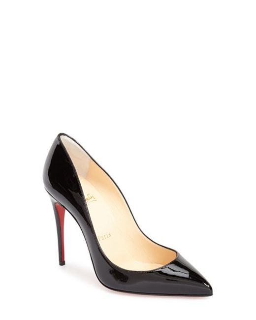 Christian Louboutin   Black 'pigalle Follies' Pointy Toe Pump   Lyst