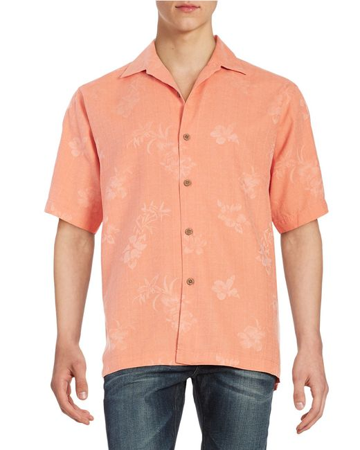 Tommy Bahama Aloha Silk Floral Shirt In Multicolor For Men