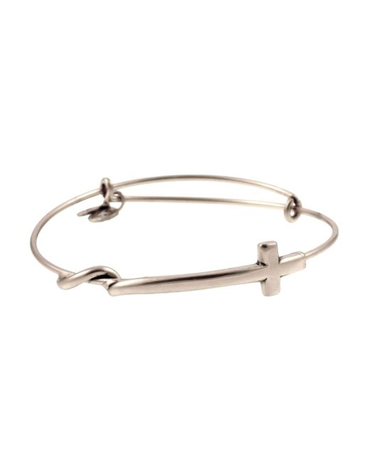 ALEX AND ANI | Metallic Cross Wrap Expandable Wire Bangle | Lyst