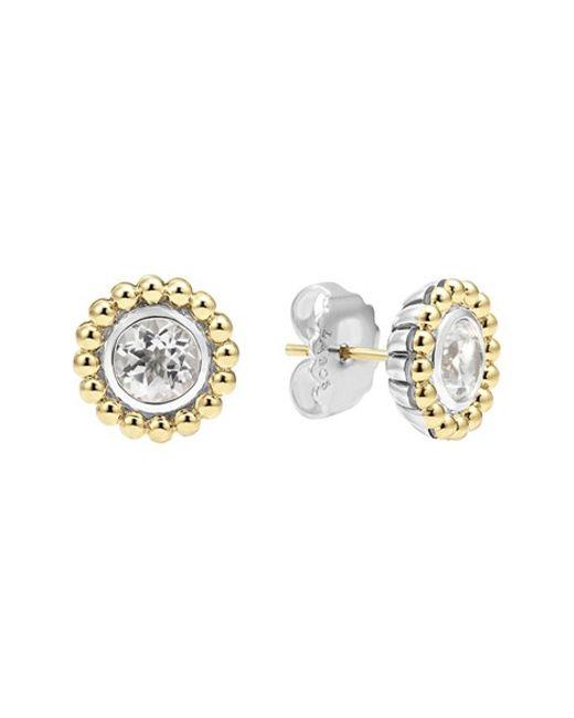 Lagos | Metallic Stone Stud Earrings | Lyst