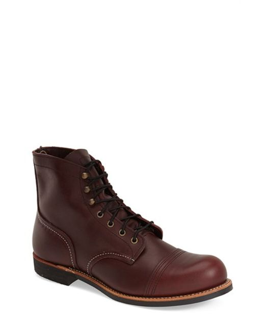 Red Wing | Purple 'iron Ranger' 6 Inch Cap Toe Boot for Men | Lyst