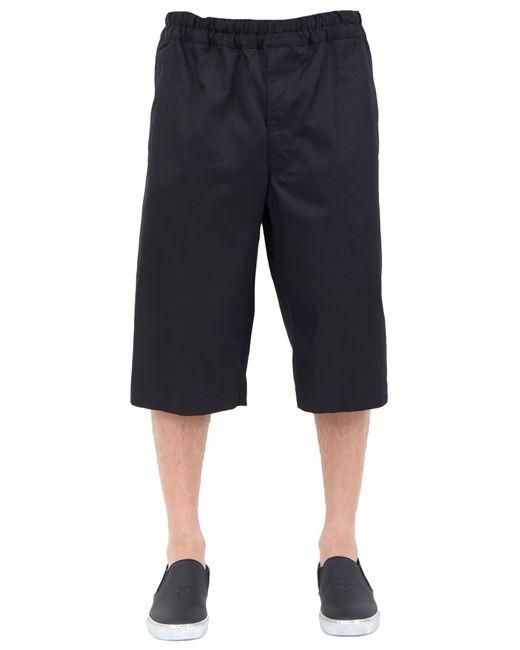 Alexander McQueen | Black Metallic Stripe Waistband Crepe Pants for Men | Lyst