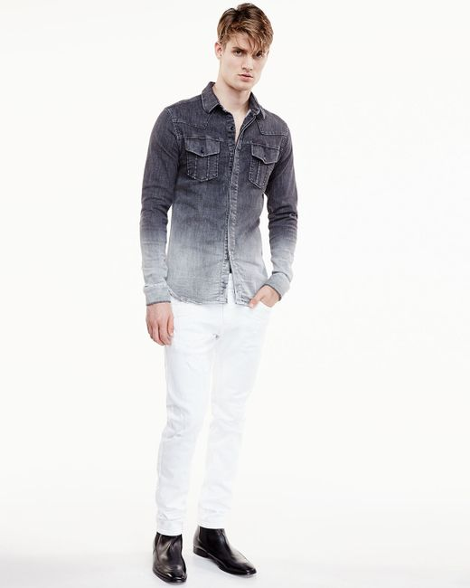 White Balmain Jeans Mens