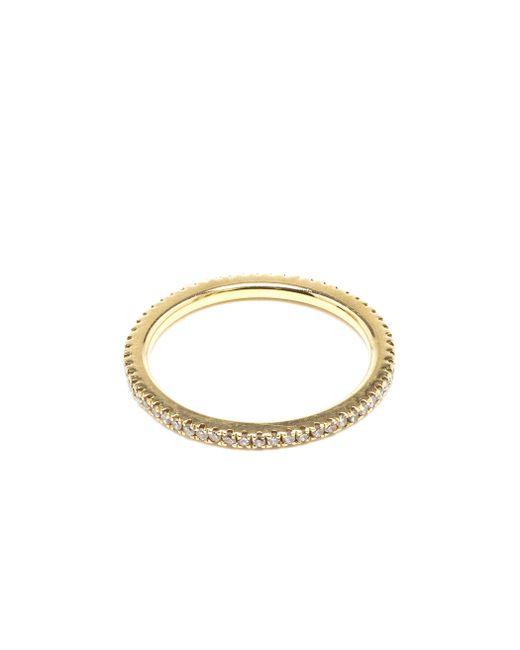 Rosa De La Cruz   Metallic 18k Yellow Gold & Diamond Midi Ring   Lyst