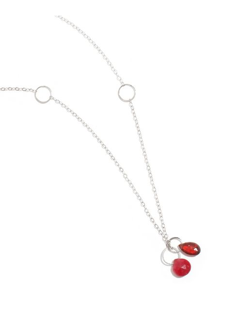 Melissa Joy Manning | Metallic Garnet And Ruby Drop Necklace | Lyst