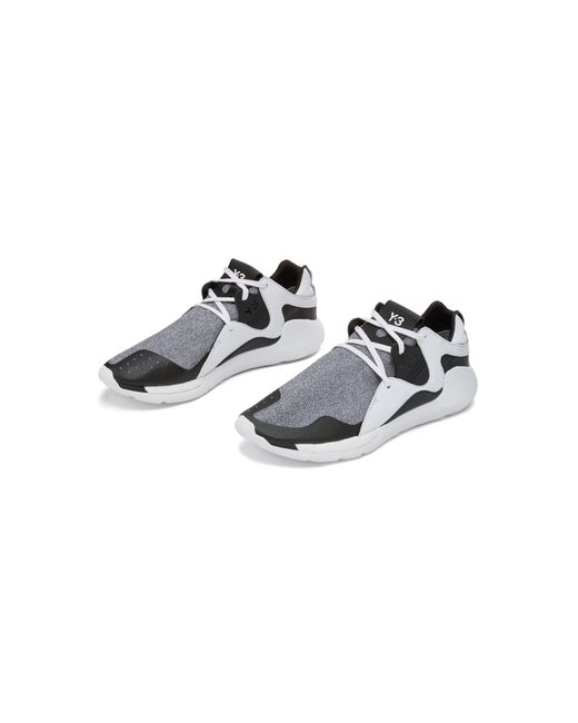 Y-3 | Black Qr Run Mesh Sneakers for Men | Lyst