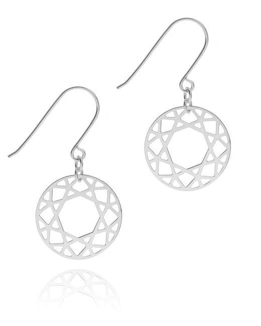 Myia Bonner | Metallic Silver Brilliant Diamond Drop Earrings | Lyst