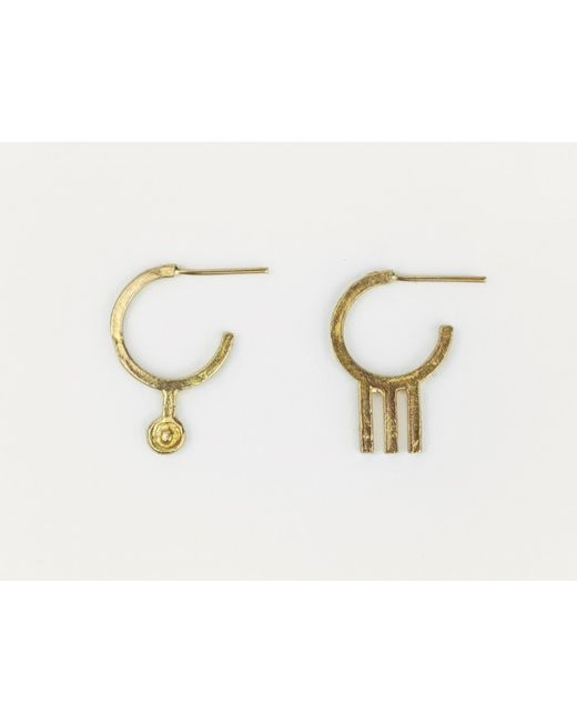 Mor | Metallic Tri Bronze Earrings | Lyst