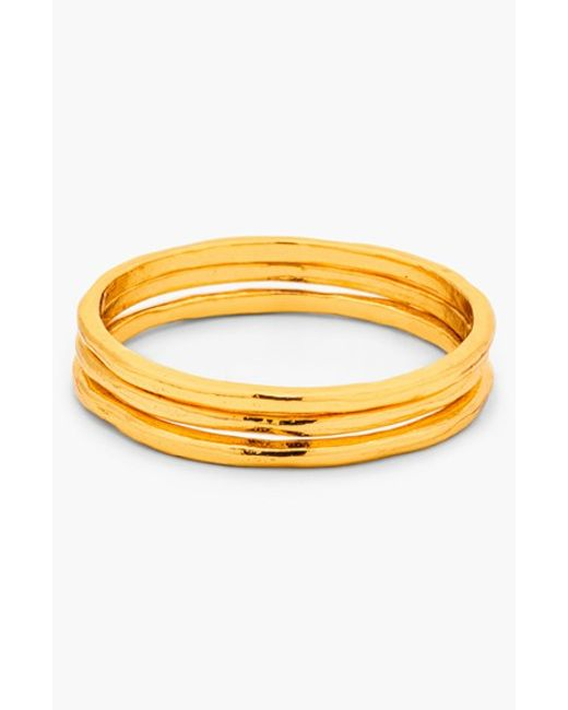 Gorjana | Metallic 'g Ring' Midi Rings (set Of 3) | Lyst