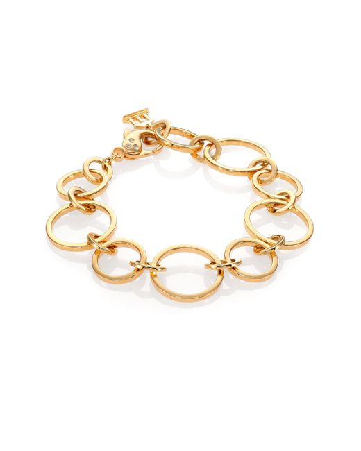 Temple St. Clair | Metallic Celestial Diamond & 18k Yellow Gold Round Link Chain Bracelet | Lyst