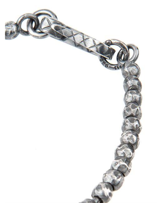 Bottega Veneta | Metallic Oxidised-Silver Bracelet for Men | Lyst