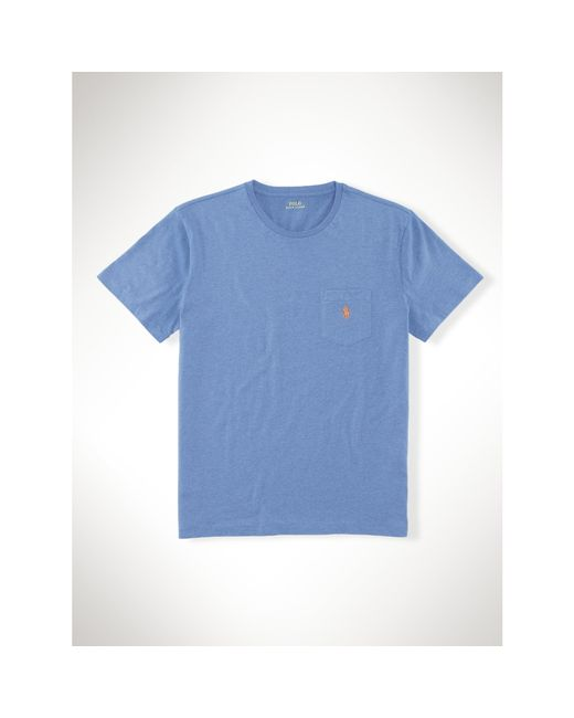 Polo Ralph Lauren | Blue Classic-fit Cotton Pocket Tee for Men | Lyst