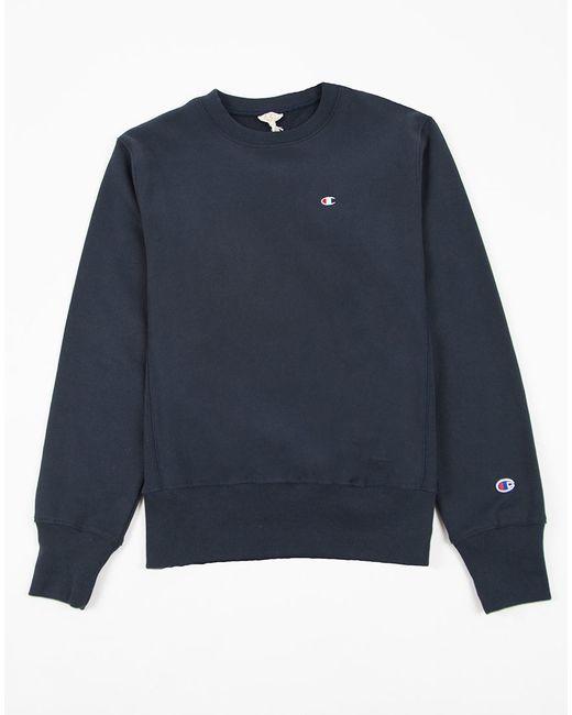 Champion | Blue Reverse Weave Crew Neck Sweatshirt Navy for Men | Lyst