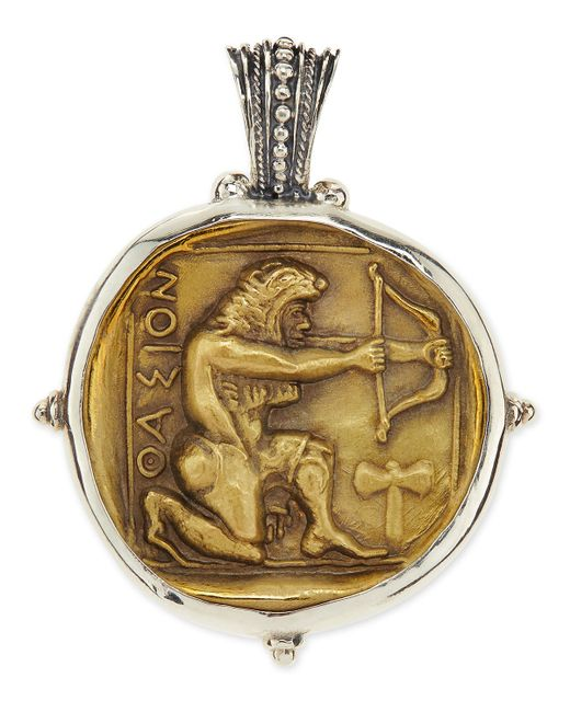 Konstantino | Metallic Men's Sterling And Bronze Hercules Pendant for Men | Lyst