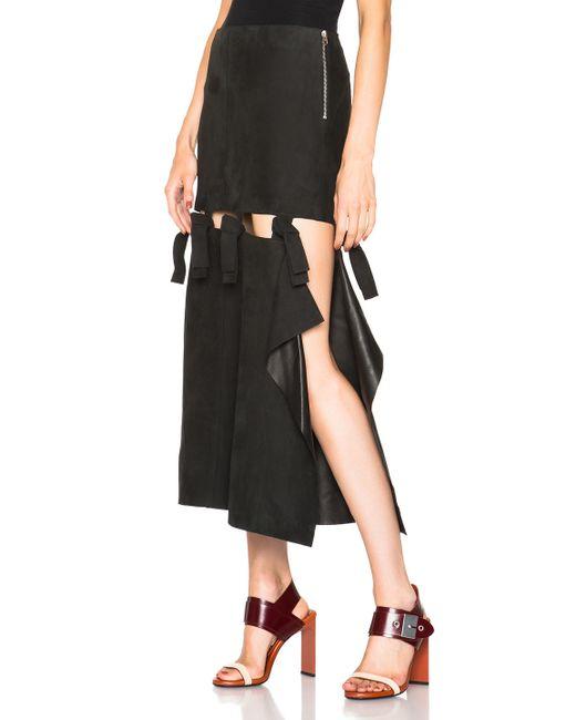 Acne | Black Hein Leather Skirt | Lyst