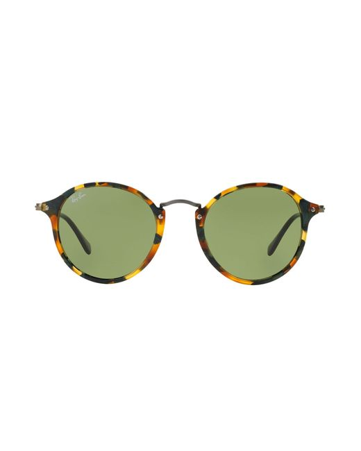 Green Frame Ray Ban Glasses : Ray-ban Round-Frame Acetate Sunglasses in Green Lyst