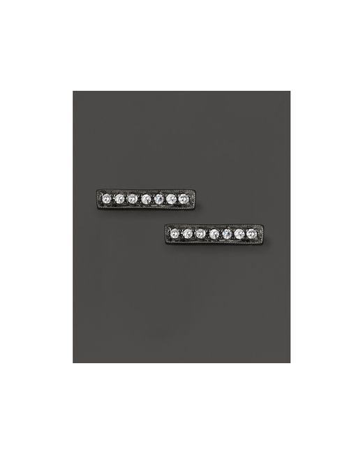 Dana Rebecca | Diamond Sylvie Rose Earrings In 14k Black Rhodium | Lyst
