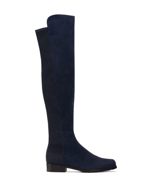 Stuart Weitzman | Blue 'lowland' Over The Knee Boot | Lyst