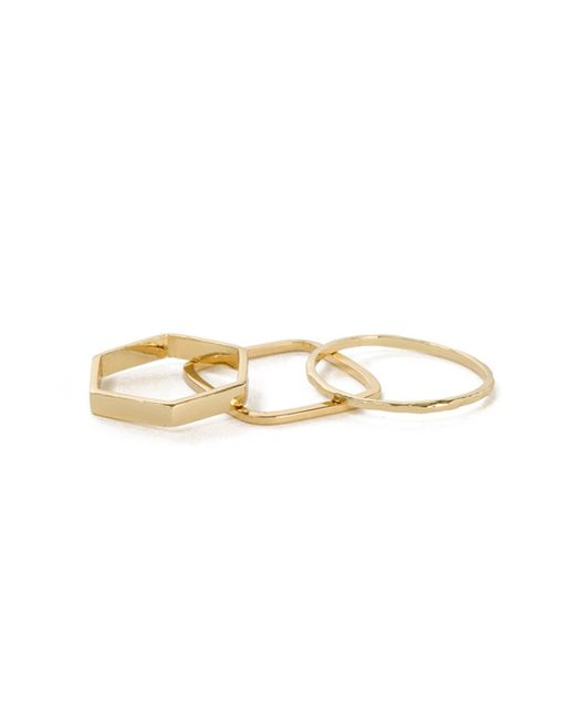 Bing Bang | Yellow Geometric Ring Set | Lyst