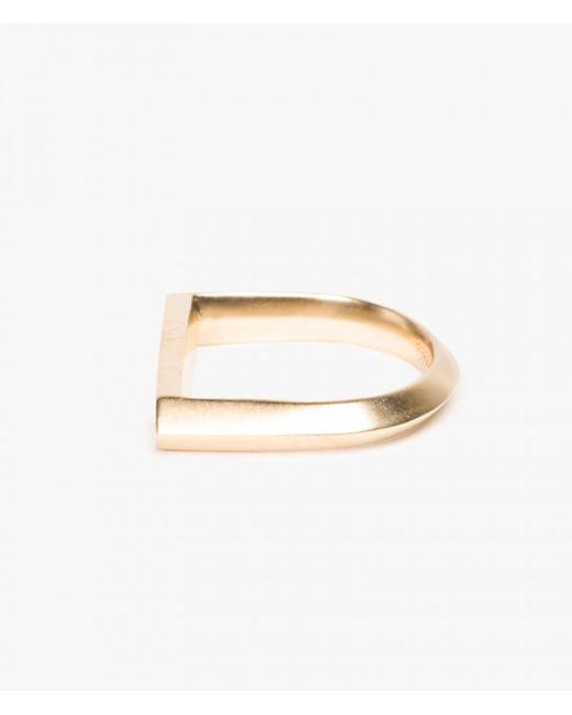 Miansai | Metallic Flat Top Ring | Lyst