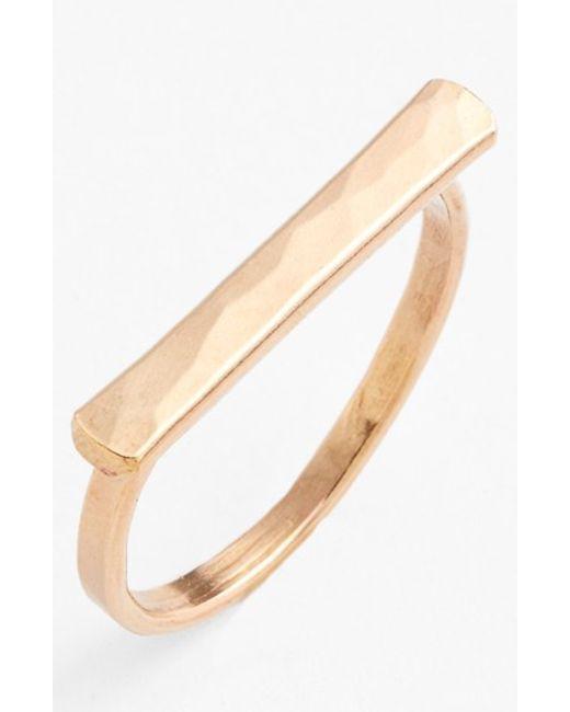 Ija | Metallic Bar Ring | Lyst