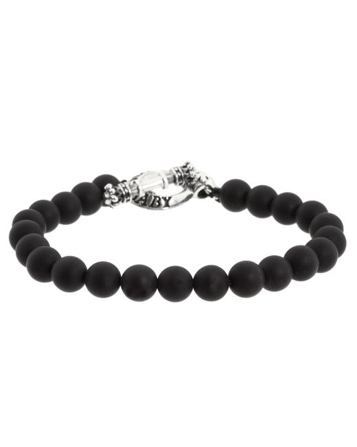 King Baby Studio | Black Onyx Bead Bracelet With Silver Clasp | Lyst