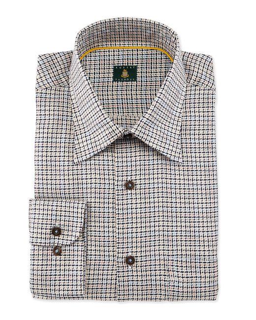 Robert talbott houndstooth woven dress shirt in beige for for Robert talbott shirts sale