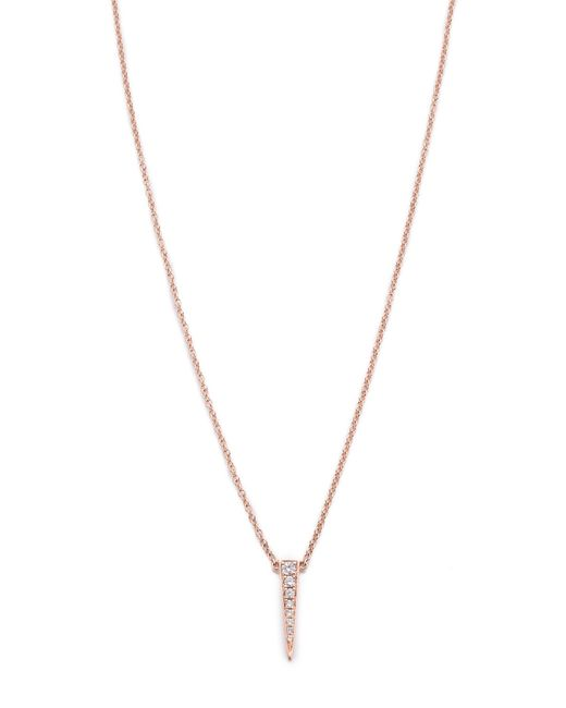 EF Collection | Pink Diamond Mini Bar Necklace | Lyst