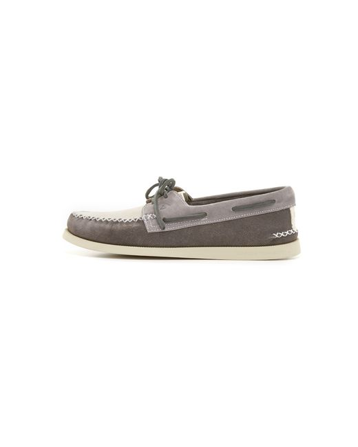 sperry top sider a o 2 eye wedge suede boat shoes in white