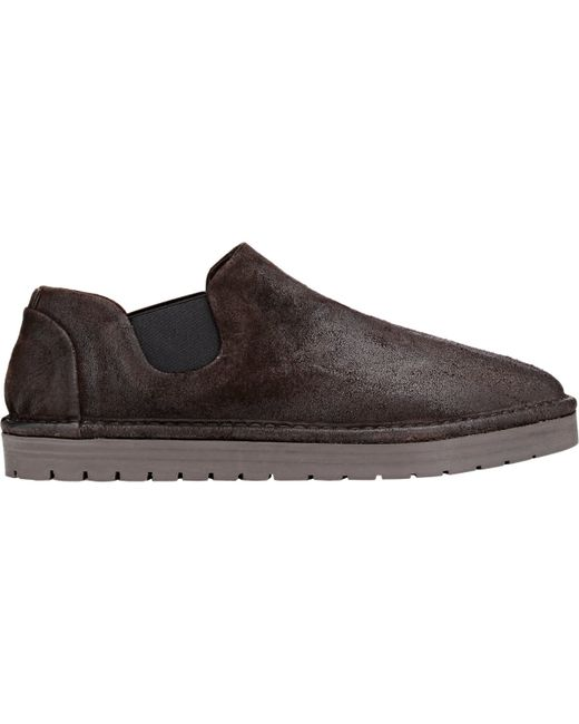 mars 232 ll suede slip on shoes in brown for lyst