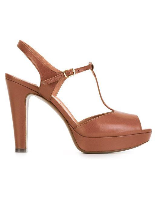 l autre chose platform t bar sandals in brown lyst
