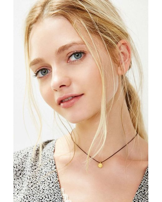 Urban Outfitters | Metallic Mini Tag Short Necklace | Lyst