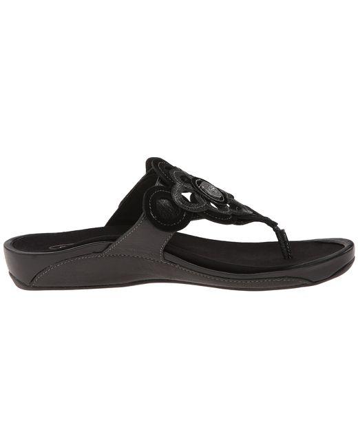 Aetrex | Black Candace Thong Sandal | Lyst